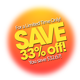 Save 33% off