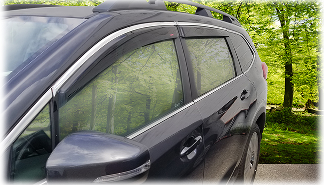 2019, 2020, 2021 Subaru Ascent window visor rain guards