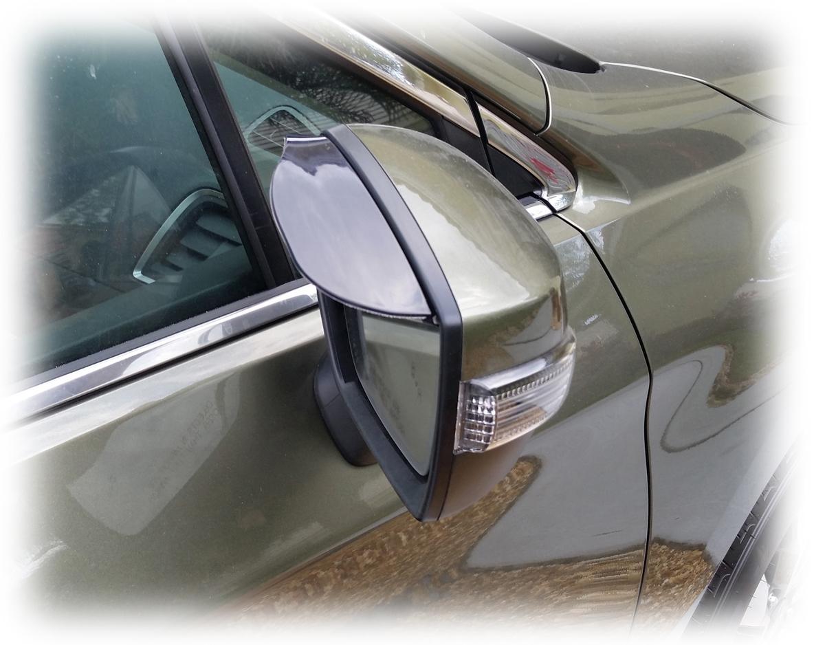 Side Mirror Rain Visor Universal Weather Guard (set of 2) fits any