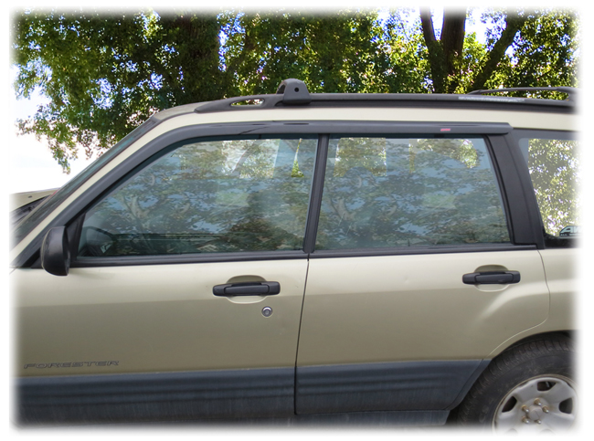C&C CarWorx set of two Tape-On Outside-Mount Window Visor Rain Guards to fit 1998-99-00-01-02 Subaru Forester models