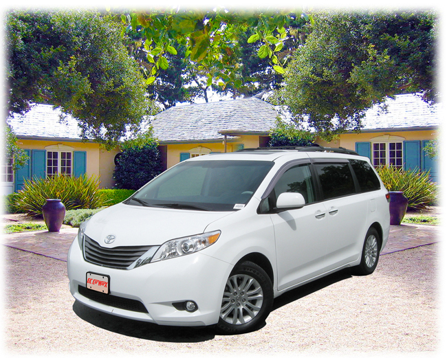 C&C CarWorx set of four Tape-On Outside-Mount Window Visor Rain Guards to fit 2011-12-13-14-15-16 Toyota Sienna models