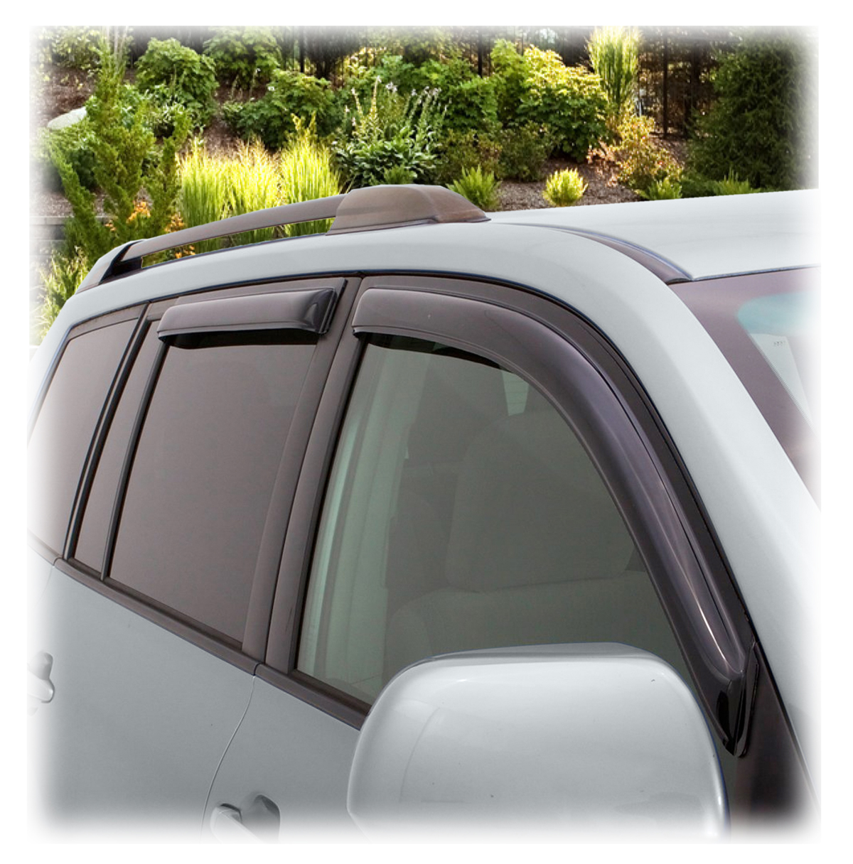 Car Window Rain Guards >> Tape-On Outside-Mount Window Visors, Rain Guards, Shades, Wind/Weather/Air/Snow/Vent Deflectors ...