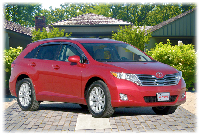 C&C CarWorx set of four Tape-On Outside-Mount Window Visor Rain Guards to fit 2009-10-11-12-13-14-15 Toyota Venza models with 12mm Chrome Molding