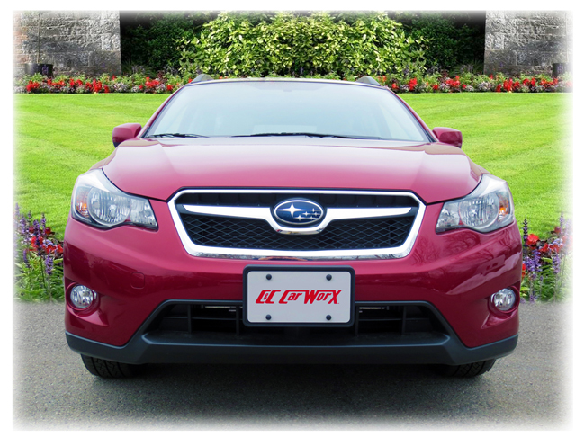 Front License Bracket to fit the 2013-2014-2015 Subaru XV Crosstrek by C&C CarWorx