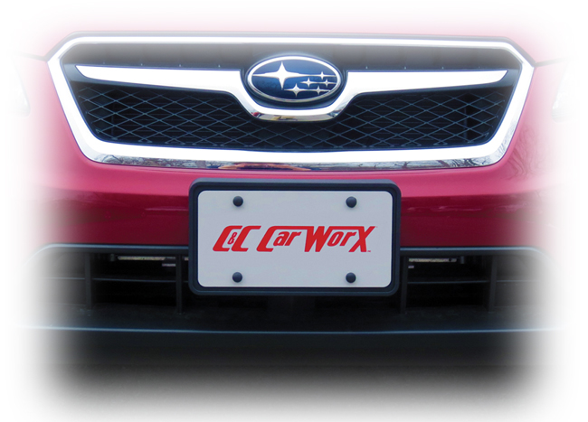 Customer testimonials confirm overwhelming satisfaction with the Front License Bracket to fit the 2013-2014-2015 Subaru XV Crosstrek by C&C CarWorx