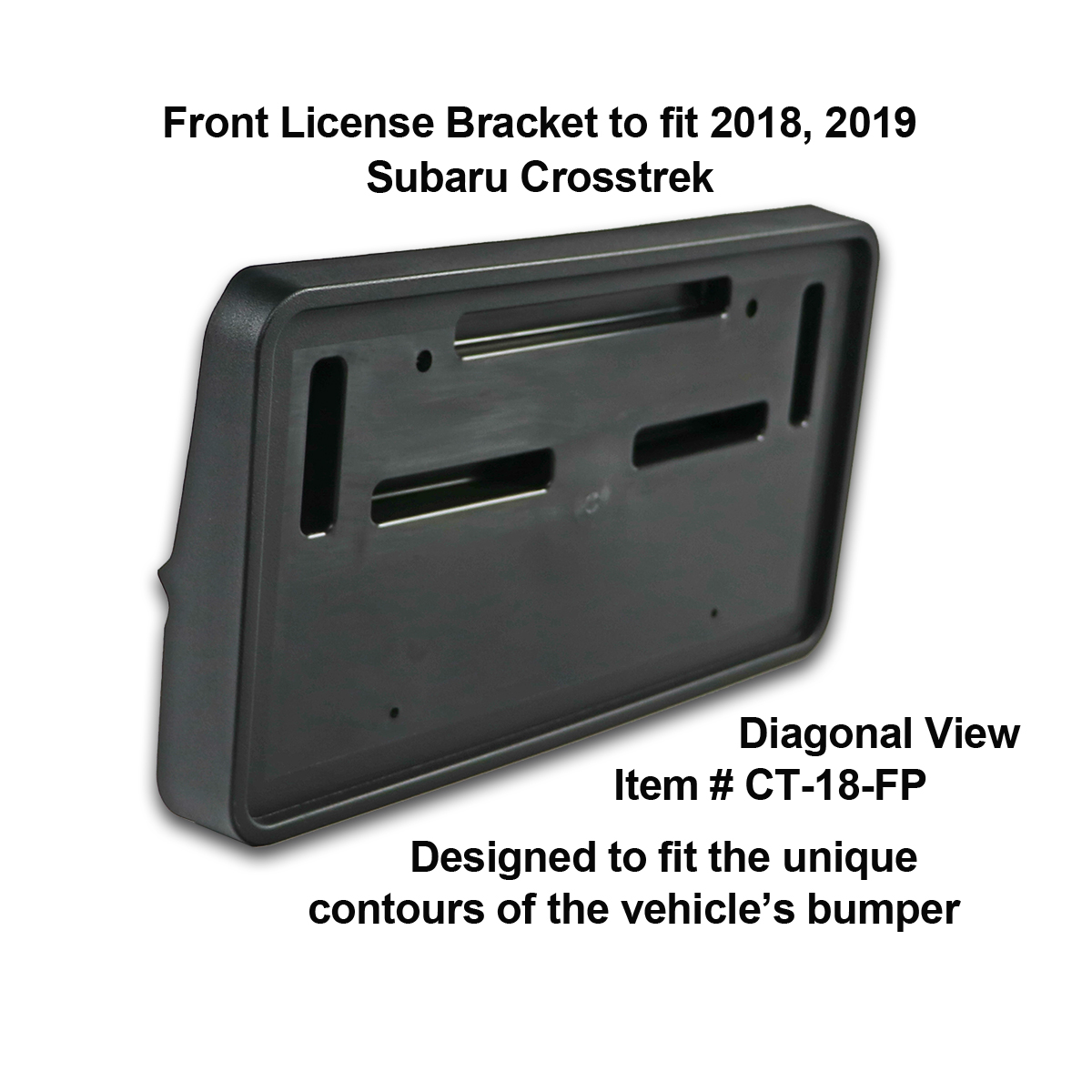 Front and Rear License Plate Frame/Bracket Assembly to fit ...