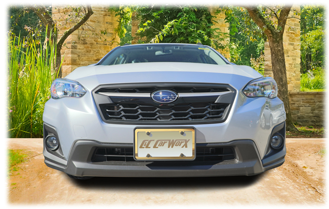 The C&C CarWorx license bracket is custom designed to fit precisely around the model's front end grilles offering a professional and clean look. Shown with a gold license frame around the license which does not come with this purchase.