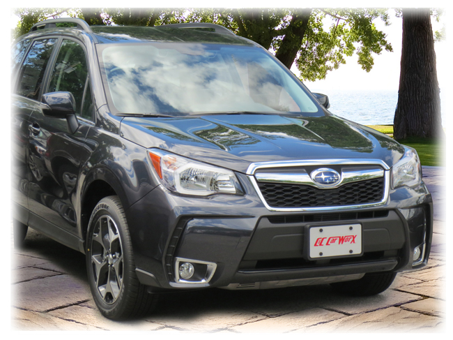 Front License Bracket to fit the 2014-15-16-17-18 Subaru Forester 2.0XT (Turbo) by C&C CarWorx
