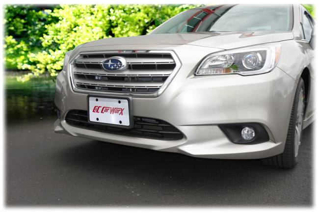Customer testimonials confirm overwhelming satisfaction with the Front License Bracket to fit the 2015-2016-2017 Subaru Legacy Sedan by C&C CarWorx