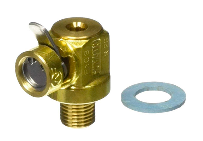 Install this Fumoto engine oil valve and you can drain your engine oil without tools and without mess.