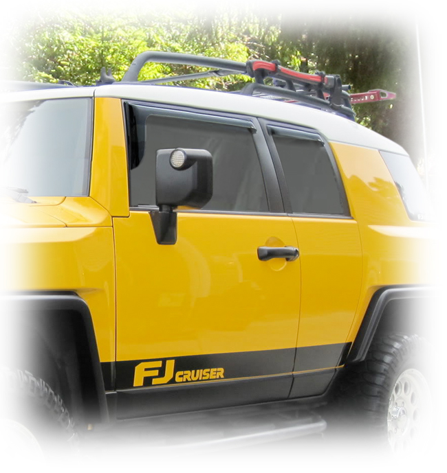Toyota FJ Cruiser Window Visor Rain Guards