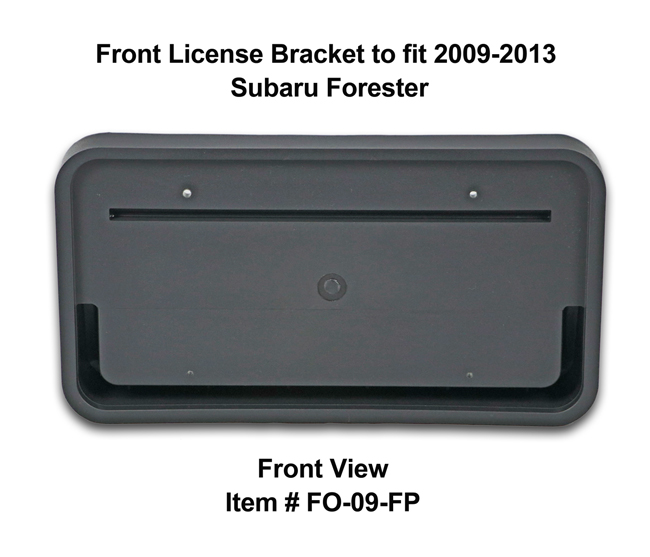 Front View of Front License Bracket FO-09-FP to fit 2009-13 Subaru Forester