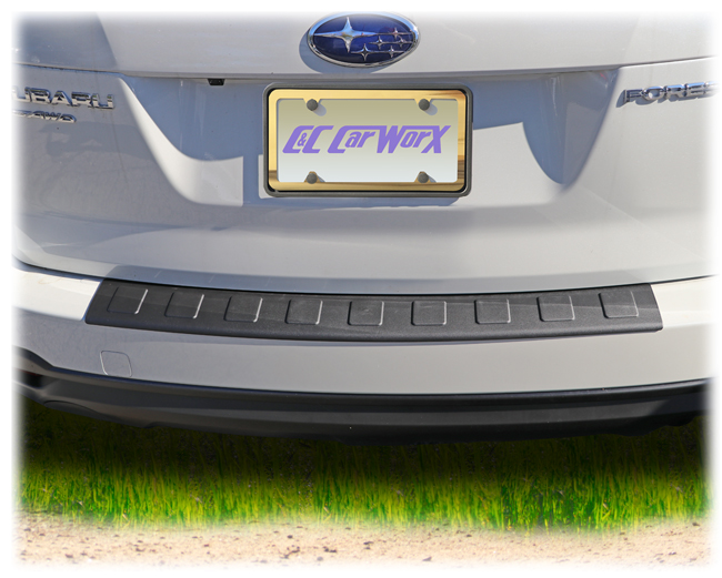C&C CarWorx Rear Bumper Cover, shown on a 2018 model, is designed to fit 2014-2018 Subaru Forester