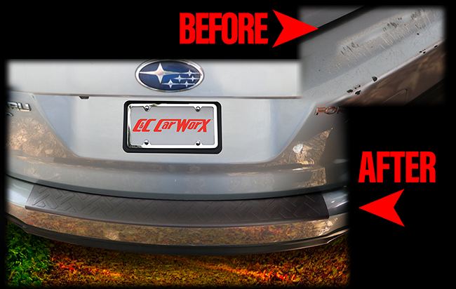 For 2014-2018 Forester owners who wish to rejuvenate their scratched or damaged rear bumper surface, C&C CarWorx Long Rear Bumper Pads provide an immediate fix and protect the tailgate loading area for the life of the vehicle