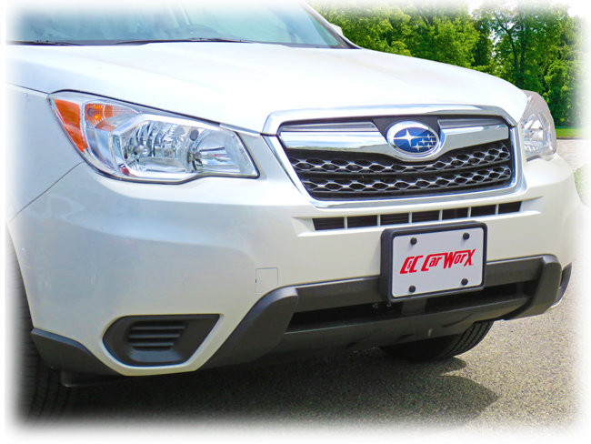 Front License Bracket to fit the 2014-15-16 Subaru Forester 2.5i (non-Turbo) by C&C CarWorx