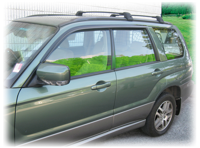 Customer testimonials confirm overwhelming satisfaction with the C&C CarWorx set of two Tape-On Outside-Mount Window Visor Rain Guards to fit 2003-04-05-06-07-08 Subaru Forester models