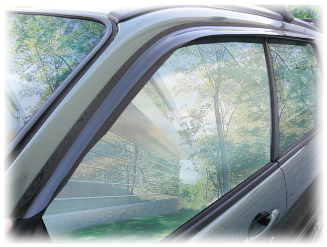 C&C CarWorx set of two tape-on Window Visor Rain Guards to fit 2003-04-05-06-07-08 Subaru Forester models