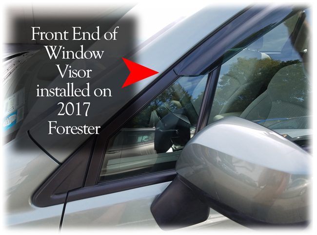 Customer testimonials confirm overwhelming satisfaction with the C&C CarWorx set of four Tape-On Outside-Mount Window Visor Rain Guards to fit 2014-15-16-17-18 Subaru Forester models