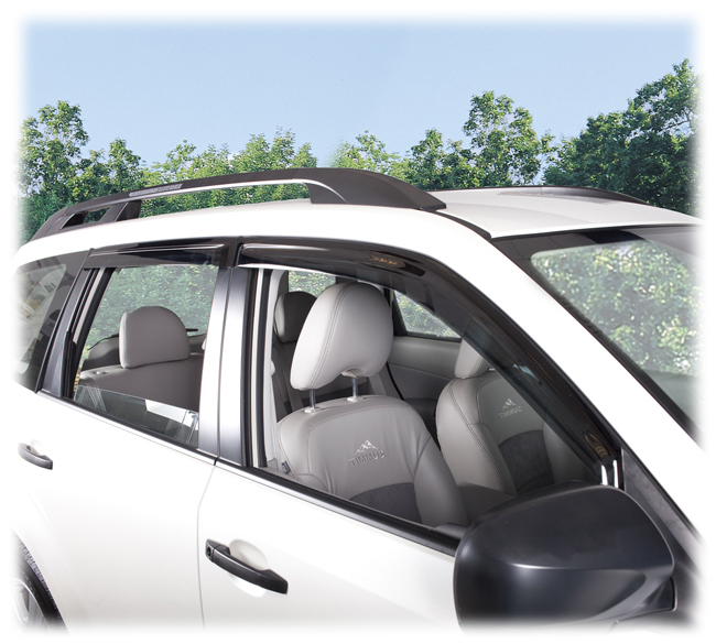 Customer testimonials confirm overwhelming satisfaction with the C&C CarWorx set of four Tape-On Outside-Mount Window Visor Rain Guards to fit 2009-10-11-12-13 Subaru Forester models