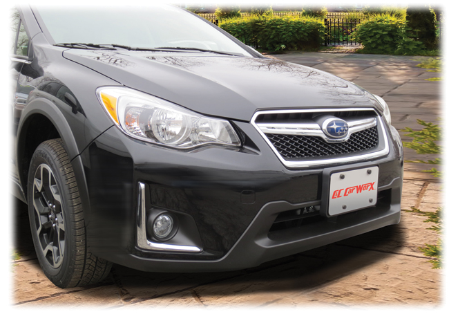 Front License Bracket to fit the 2016-2017 Subaru Crosstrek by C&C CarWorx