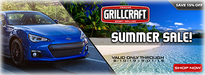 Grillcraft Sale on all Subaru and Toyota Grilles