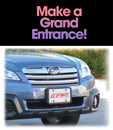 Make a Grand Entrance with a C&C CarWorx Front License Bracket