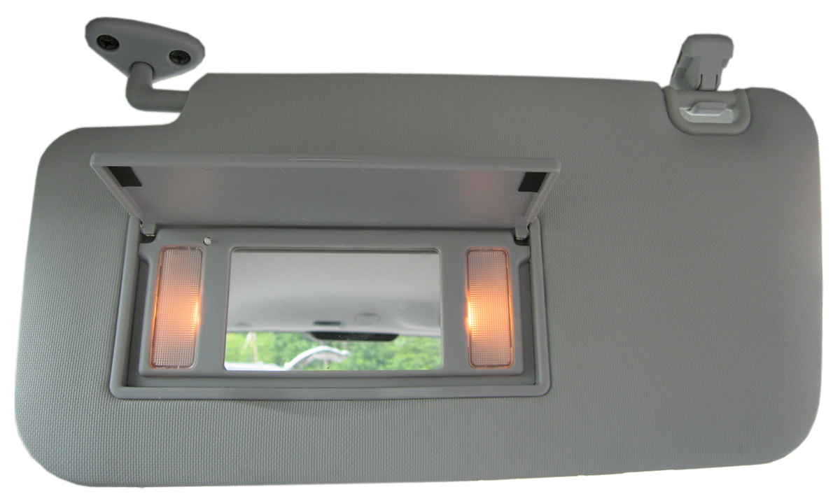 The lighted sun visors fit in the same location as the factory-installed  visors. 74ab02d3a18