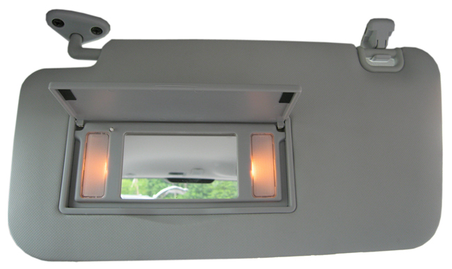 The lighted sun visors fit in the same location as the factory-installed visors.<