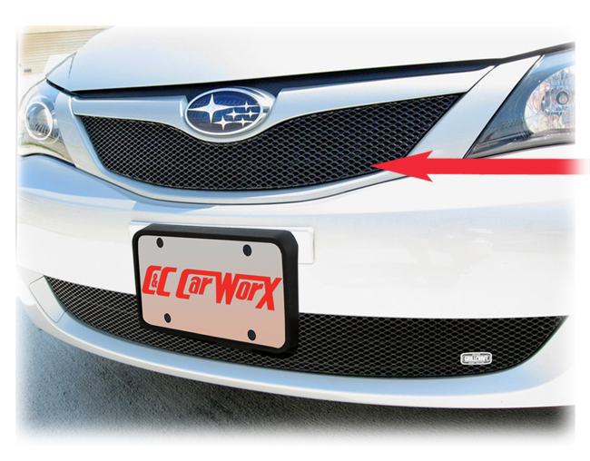 C&C CarWorx offers this aftermarket Upper Grille for 2008 Subaru Impreza WRX available in silver and black by Grillcraft.