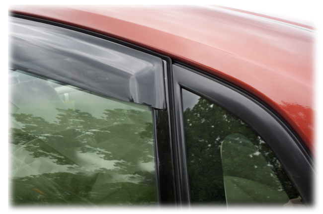 Customer testimonials confirm overwhelming satisfaction with the Tape-On Outside-Mount Window Visor Rain Guards to fit Hatchback and Sedan Models of         2008, 2009, 2010, 2011 Subaru Impreza         by C&C CarWorx