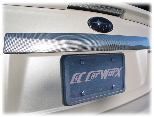 Customer testimonials confirm overwhelming satisfaction with the C&C CarWorx Faux Carbon Fiber STI-Style Rear Accent Trim  to fit Sedan Models only of  2008-2011 Subaru Impreza and 2008-2014 Impreza WRX & STI .