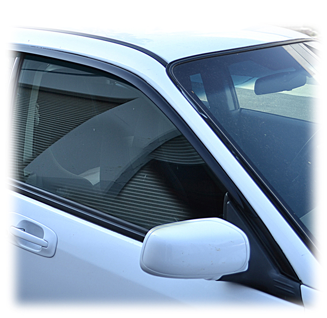 Customer testimonials confirm overwhelming satisfaction with the Set of 2 Tape-On Outside-Mount Window Visor Rain Guards  in Japanese OEM Style  to fit Sedan Models only of  2002-2007 Subaru Impreza and Impreza WRX by C&C CarWorx