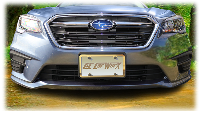 Front License Bracket to fit the 2018 Subaru Legacy Sedan by C&C CarWorx