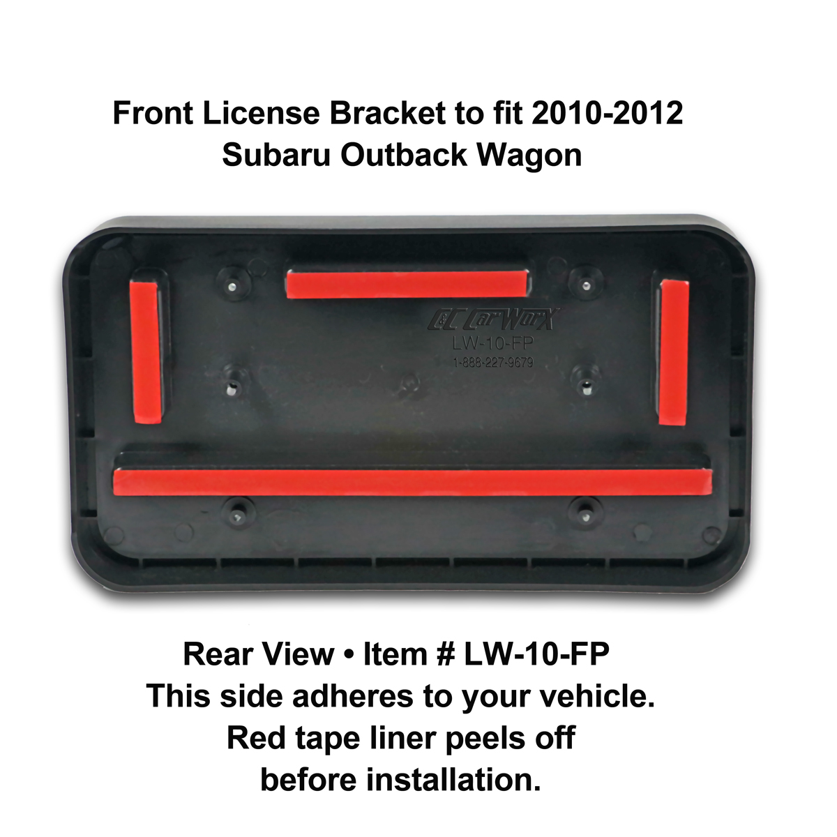 Custom Subaru Outback >> Front and Rear License Plate Frame/Bracket Assembly to fit ...