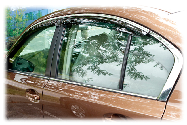 2010-11-12-13-14 Subaru Legacy Sedan window visor rain guards