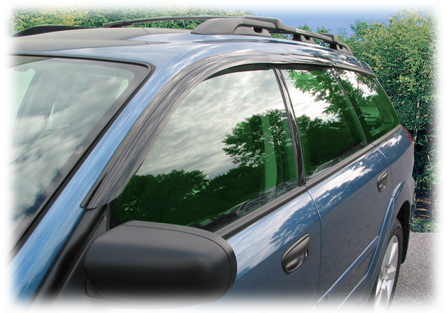 C&C CarWorx 2005-2009 Subaru Legacy Outback Wagon window visor rain guards