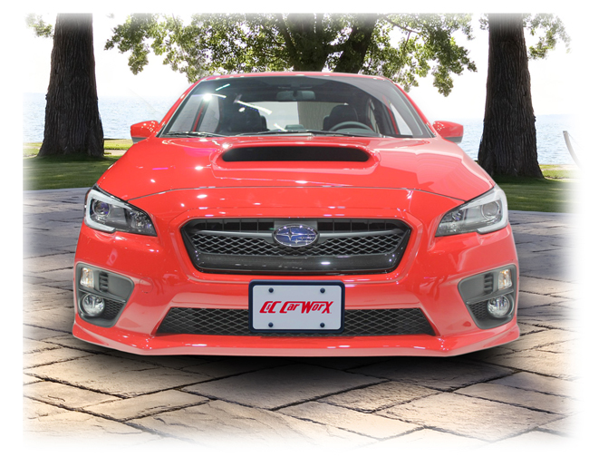 Front License Bracket to fit the 2015-2017 Subaru Impreza WRX by C&C CarWorx