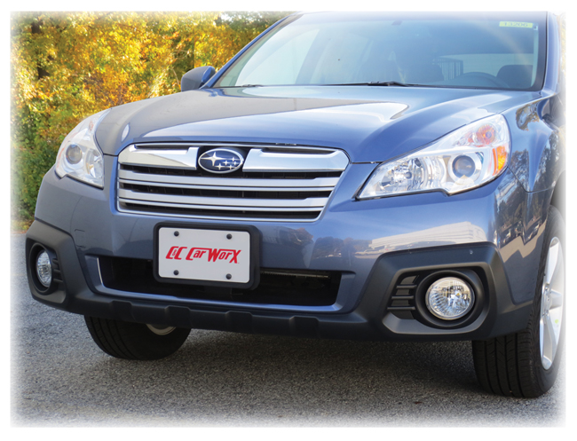 Customer testimonials confirm overwhelming satisfaction with the Front License Bracket to fit the 2013-2014 Subaru Outback Wagon by C&C CarWorx
