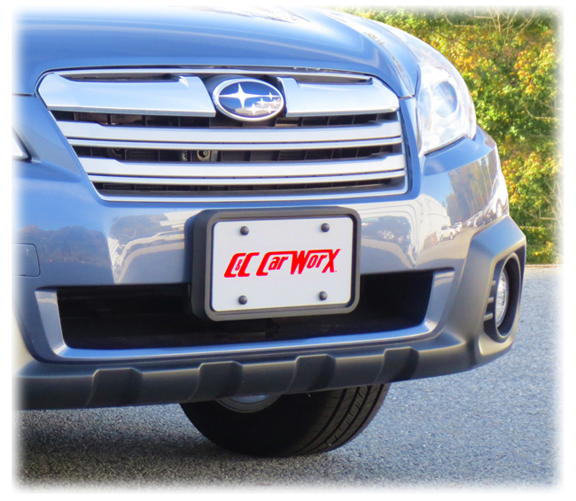 Front License Bracket to fit the 2013-2014 Subaru Outback Wagon by C&C CarWorx