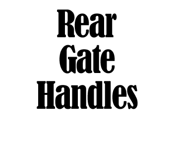 Rear Gate Handle Bars