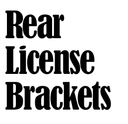 Rear License Plate Frame Bracket Assembly To Universally