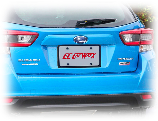 The universal rear license plate bracket fits all models of your 2020 Subaru except the WRX and STI.