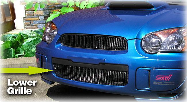 Customer testimonials confirm overwhelming satisfaction with the Grillcraft Lower Grille Insert to fit 2004-2005 Subaru® Impreza®  WRX® and STI® shown in black.