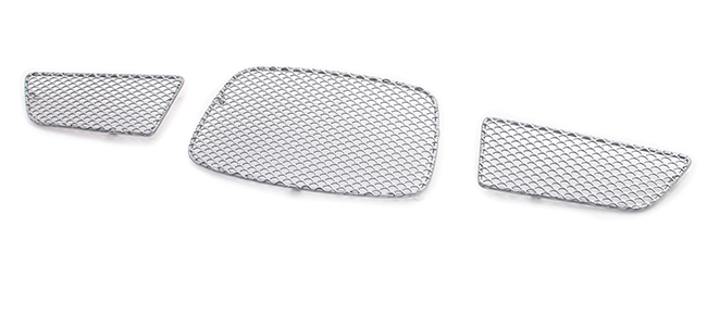 C&C CarWorx offers this aftermarket Upper 3-Piece Grille Insert Set for 2006-2007 Subaru Impreza WRX 4-door Sedan And Wagon Models available in silver and black by Grillcraft.