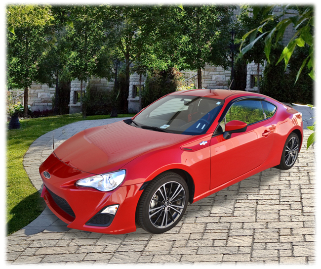 Customer testimonials confirm overwhelming satisfaction with the Tape-On Outside-Mount Window Visor Rain Guards to fit 2013-14-15-16 Toyota Scion FR-S models by C&C CarWorx