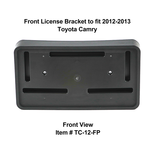 Front View of Front License Bracket TC-12-FP to fit 2012-2013 Toyota Camry