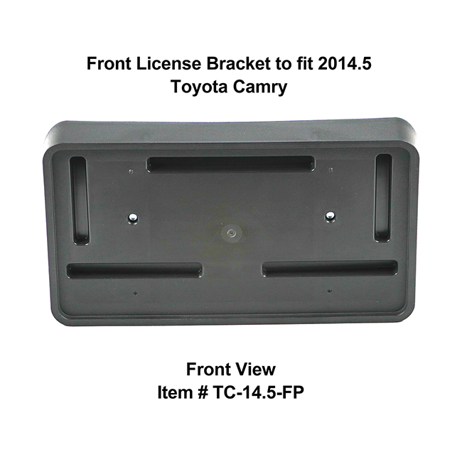 Front View of Front License Bracket TC-14.5-FP to fit 2014.5 Toyota Camry