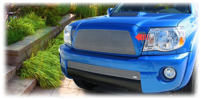C&C CarWorx offers this aftermarket Upper Insert Grille for 2011 Toyota Tacoma models in silver by Grillcraft.