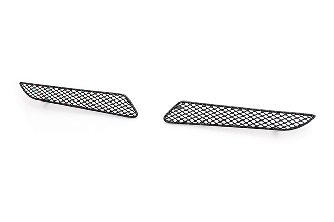 C&C CarWorx offers this set of 2 aftermarket Upper Grille Inserts for 2012-2015 Toyota Prius models in black by Grillcraft.