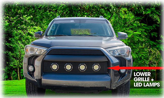 Grillcraft Black Lower Mesh Grille Insert With 4 Led